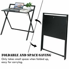 Folding Simple PC Laptop Writing Table Computer Desk - Home Decor Folding Table Desk, Pc Table, Small Computer, Laptop Table, Laptop Desk, Laptop Stand, Home Office, Garden Office, Homemade Home Decor