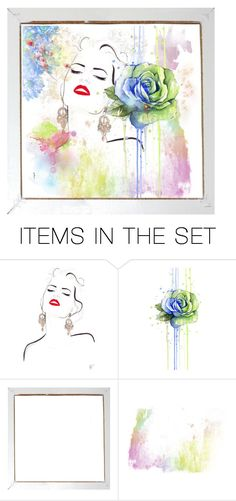 """Sweet Summer Art💜"" by kari-c ❤ liked on Polyvore featuring art"