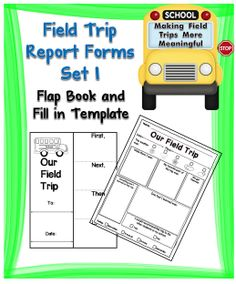 Enclosed in this set you will find two field trip report templates that will help your students become more accountable for what was learned on a field trip. #tpt#fieldtrip#reports#teacherspayteachers