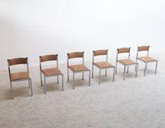 6 Cidue chrome dinning chairs