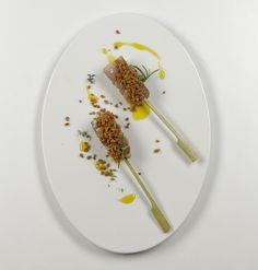 Pinchos de Secreto iberico a la plancha con Higo Crunch Ingredissimo