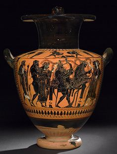 Pottery: black-figured hydria