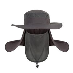 Outdoor Protection Ear Face Flap Neck Cover Sun Cap Fishing Unisex Bucket Hat US Hiking Hat, Men Hiking, Fishing Cap, Fishing Tools, Fishing Stuff, Bucket Cap, Big Bucket, Outdoor Stuff, Hama
