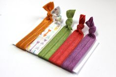 Set of 5 Colorful Arrows Hair Ties Ponytail Holders by ElenasBows, $5.00