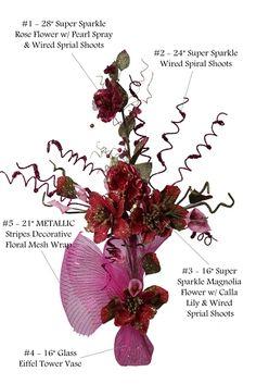 Quinceanera Centerpiece #102. For more details, including color options and pricing, please visit our website www.lacrafts.com (Centro de mesa para Quinceanera #102. Para más detalles, incluyendo opciones de color y los precios, por favor visite nuestro sitio web www.lacrafts.com)