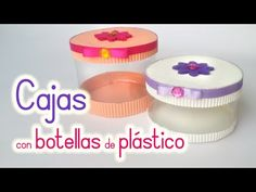 Cajas hechas con botellas de plástico - Reciclaje | Aprender manualidades es facilisimo.com