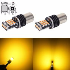 JDM ASTAR Amber 1156PY BAU15S 7507 LED 3035 SMD Turn Signal  Blinker Lights Bulb #JDMASTAR Automotive Led Lights, Amber Led Lights, Led Replacement Bulbs, Led Headlights, Led Strip, Tail Light, Strip Lighting, Jdm, Light Bulb
