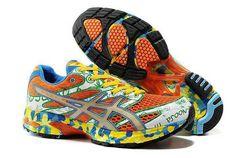 44fac88c7 Asics Gel Noosa Tri 6 Mens Orange Green White Blue Yellow Asics Running  Shoes 2013 under