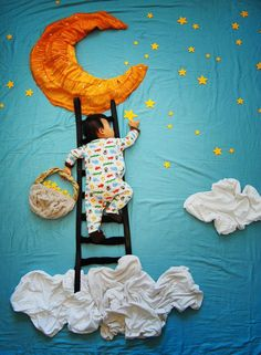 """Photographer Queenie Liao, mother of three, has created a wonderful series called """"Wengenn in Wonderland"""" turning her baby's naptime into dream adventures. Just love it."""