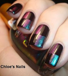 Chloe's Nails: Checkered Mani