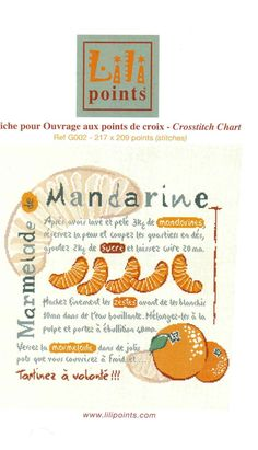 Mandarine Lilipoints Cross Stitch Kitchen, Le Point, Couture, Cross Stitching, Lily, Bullet Journal, Crafts, Crossstitch, Style