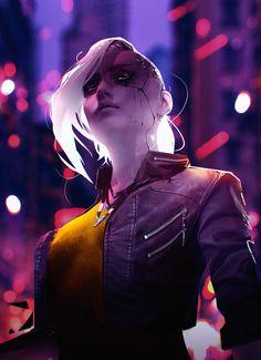 """Cyberlady"" by ✦ Rashed AlAkroka ✦ Cyberpunk Aesthetic, Arte Cyberpunk, Cyberpunk 2077, Animation Walk Cycle, Walking Animation, Character Design Animation, Character Art, Step By Step Sketches, Animation Reference"