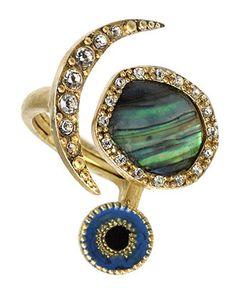 RACHEL Rachel Roy Ring, Abalone Evil Eye - Fashion Jewelry - Jewelry & Watches - Macy's