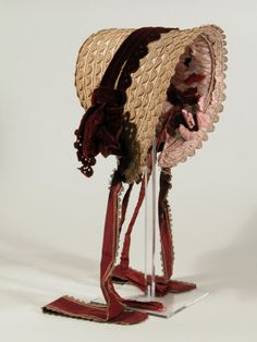 ~Bonnet  National Trust Inventory Number 1349753 CategoryCostume Date1840 - 1850~