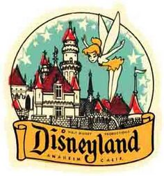 Disneyland Fairy Anaheim CA Vintage Looking Sticker Decal Luggage Label | eBay