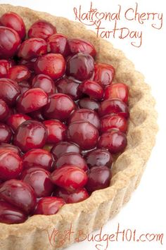 National Cherry Tart Day- Check out these fabulous Cherry Recipes & Simple tip for pitting cherries without a cherry pitter/cherry stoner. . .(click on photo for more)