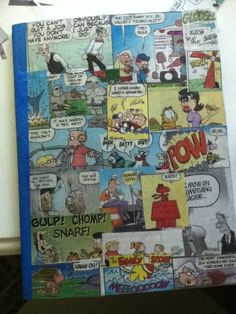 Diy comic journal cover