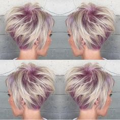 Short. Sassy. Sexy.  Can't get enough of this short haircut and color design by…