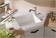 modern kitchen design ideas porcelain corner kitchen sinks