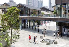 taikoo li chengdu - Google Search Commercial Complex, Commercial Street, Axe Commercial, Tropical Architecture, Facade Architecture, Shopping Mall Interior, Plaza Design, Commercial Landscaping, Mix Use Building