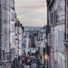 Montmartre district. Beautiful place, amazing view, building, architecture. Paris, France
