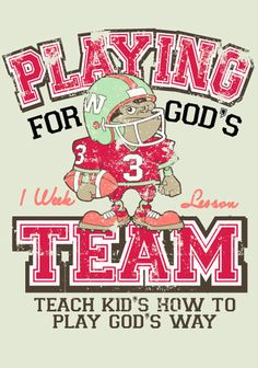 Free Super Bowl themed Children's Ministry Lesson that teaches to play for God's team.