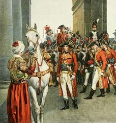 The Consuls taking possesion of the Tuileries. Detail. An illustration for Sloane's Life of Napoleon, based on an aquarelle by F. de Myrbach...