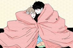 Chanbaek Fanart, Exo Chanbaek, Cute Gay Couples, Anime Couples, K Pop, Chanyeol, Exo Fan Art, Queer Art, Couple Drawings