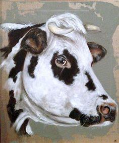 Artiste peintre animalier des animaux de la ferme poules coqs nes veaux vaches poussins - Vache normande dessin ...