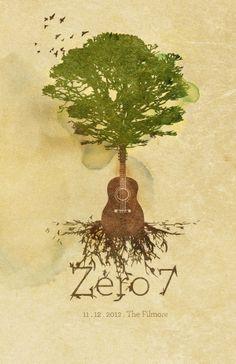 Zero 7 Gig Poster by Akoua Smith, via Behance