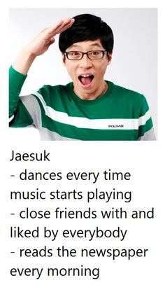 Get To Know Running Man Members - Yoo Jae Suk