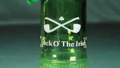 St Patrick Day Bottle Candleholder. Here's a festive way to decorate the table while enjoying that corned beef and cabbage this year! This lively, green decorative bottle wishes everyone at the table some luck of the Irish while entertaining them with flashy mylar shamrocks that shimmer at the slightest breeze and delights with a wine cork candle that really smells of wine!    http://www.etchtalk.com/Item/st-patrick-day-bottle-candleholder