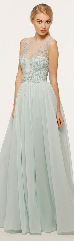 Dressy look - pastel long gown - Georges Hobeika - SS 2014 RTW Beautiful Gowns, Beautiful Outfits, Pretty Outfits, Pretty Dresses, Evening Dresses, Formal Dresses, Dress Up, Dress Prom, Prom Dresses