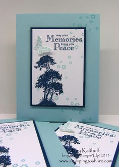 Stamping to Share, Serene Silhouettes, Stampin' Up!,  Sympathy Cards, Kay Kalthoff