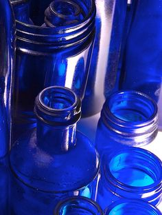 I collect cobalt blue glassware.....LOVE this color of blue!!