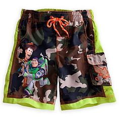 Disney Toy Story Swim Trunks for Boys | Disney StoreToy Story Swim Trunks for Boys - Every trip to the beach or pool is an adventure with Buzz Lightyear, Woody and our Toy Story swim trunks featuring a Green Army Men camo pattern along with a handy pocket!