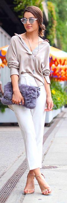Camila Coelho Neutral Tones Outfit