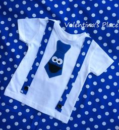 Cookie Monster t-shirt with tie or Cookie by Valentinasplace