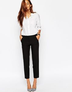 ASOS Ankle Grazer Cigarette Pant in Crepe • corporate