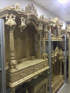 Wooden Temple For Home, Temple Design For Home, Home Temple, Mandir Design, Dressing Table Design, Pooja Mandir, Vertical Garden Design, Pooja Room Door Design, City Farmhouse