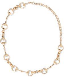 Gucci - 18-karat Gold Horsebit Necklace - one size