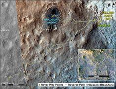 Mars Map Via Curiosity