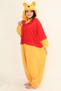 81cfb2b415c7 Winnie THE Bear Disney Costume Kigurumi Cosplay Pajamas Party Adult Onesie  Dress