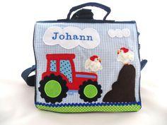 """♥Kindergartenrucksack/-tasche """"Hühner-Traktor""""♥ von ♥ Bine´s Zauberwerkstatt ♥ auf DaWanda.com"""