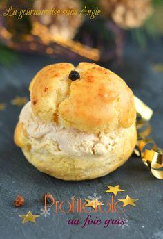 profiterole de glace au foie gras Profiteroles, Hamburger, Appetizers, Bread, Toulouse, Maya, Party, Table, Organic Cooking