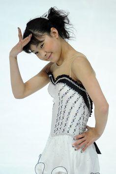 Kanako Murakami -  White Figure Skating / Ice Skating dress inspiration for Sk8 Gr8 Designs.