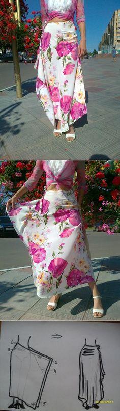 Простая интересная выкройка юбки (мастер-класс) / Простые выкройки /