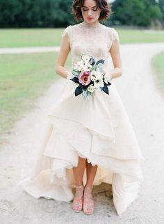 + de 30 Fotos de Vestidos de novia cortos 2017