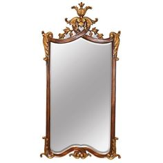 Chippendale Mirror Hand Carved Antique Styled Gold Leaf Accent New Free shipping #Chippendale #asd