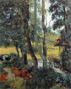 Paul Gauguin - Post Impressionism - Coin de mare - Pond's corner - 1885